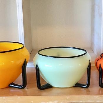 Tango 3-handle vases - sizes - Art Glass