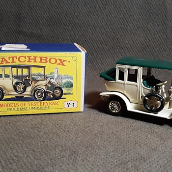 Magnificent Mercedes Motoring Matchbox Monday Models of Yesteryear Y-3 1910 Benz Limousine 1965 - Model Cars