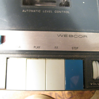 Webcor Cassette Player - Recorder