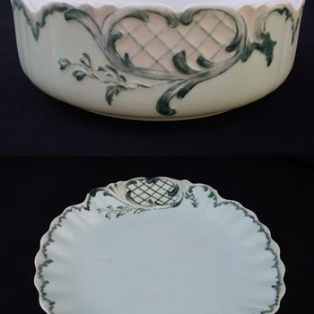 Martial Redon Limoges Bowl and Cabinet Plate - China and Dinnerware