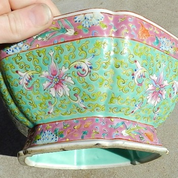 Antique Famille Verte Qianlong Chinese Dish - Asian