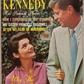 """1964 - """"Jacqueline Kennedy"""" Tribute Magazine - Advertising"""