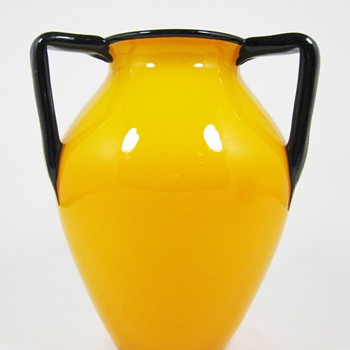 "Loetz Tango Mandarin yellow ca. 1920 6 3/4"" - Art Glass"