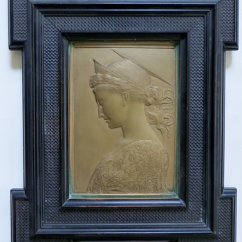 Bronze Angel Plaque, Italian?~Renaissance Design~Stunning piece - Art Nouveau