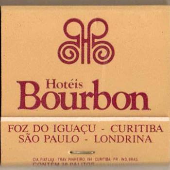 Hotéis Bourbon (Brazil) - Matchbook - Tobacciana
