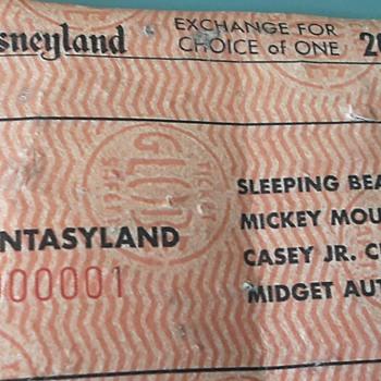 DISNEYLAND B Ticket # F000001  - Advertising