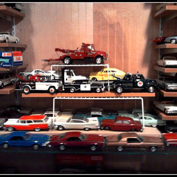 These die cast tow trucks are perfect for towing broken promo cars...