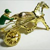 Vintage HARNESS RACING Brooch - Marked GERRY'S