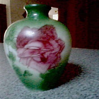 Cute Little Victorian Hand Painted Opaline Bud Vase - Glassware