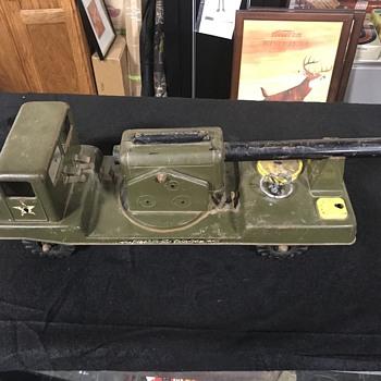 Toy Army truck  . NY -Lint toy company  - Model Cars
