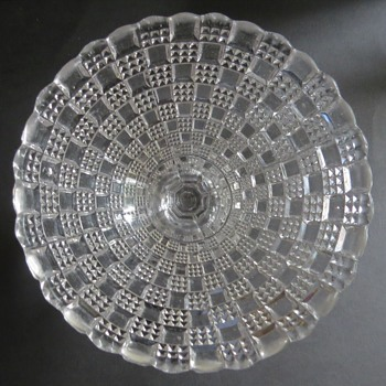 Victorian Davidson Pressed Glass Sugar Bowl / Compote - Glassware