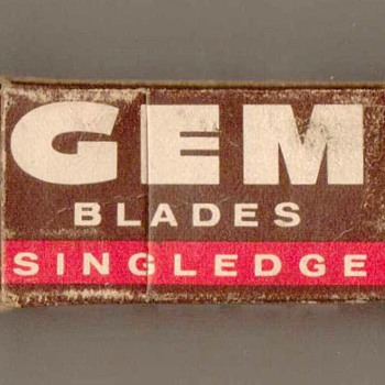 1950's - GEM Razor Blades - Advertising