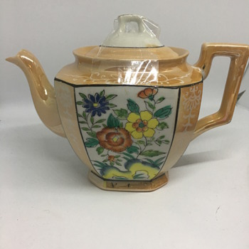 Lustreware Teapot - Asian