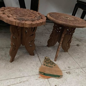 2 Handcarved Tables - Furniture
