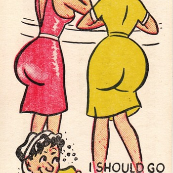 Adult Risque Novelty Joke Cards (The Kind Men Like!) - Advertising