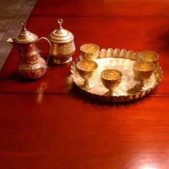 Arabic copper brass tea set - Kitchen