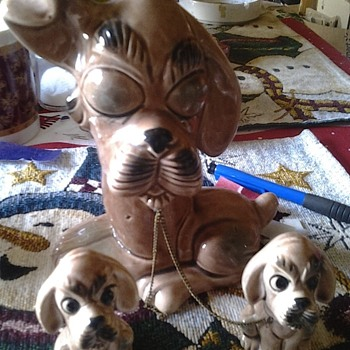dog family figurines - Figurines