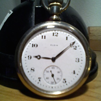 ELGIN 16 size basic big ol pocket watch from the 20s