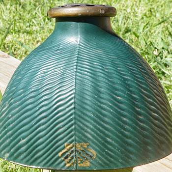 Starts with X, Made in Chicago glass lamp shade