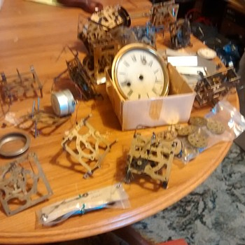 Mechanical clock parts with parts from Herald, Welby Corpoation Germany, Doddo? etc - Clocks