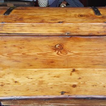 German Iron Bound Immigrant Trunk - Furniture