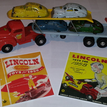 Lincoln Toys Catalogues 1956 and 1958 reproductions.