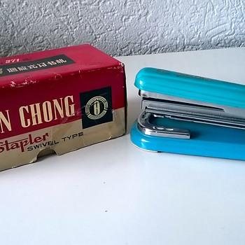 "My 1960s Vintage Aqua Swivel Stapler ""Yuen Chong"" Model 371 $1.00"