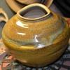 Large Signed Art Pottery Globe Vase