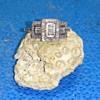 Art Deco Style Diamond Ring 57 stones, 10k, 3.1 grams