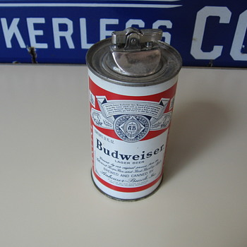 Old Budweiser Beer Can Cigarette Lighter!!! - Breweriana