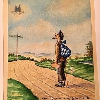 Watercolor Painting HELP: GERMAN TRANSLATION? ARTIST? - Fine Art