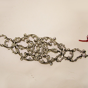Vintage Ben-Amun Victorian Filigree Rhinestone Dog Collar Necklace - Costume Jewelry