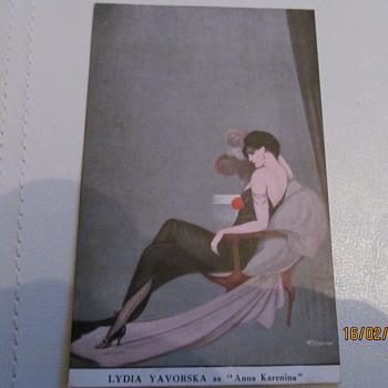 RUSSIAN PRINCESS BARIATINSKY PLAYING ANNA KARENINA. - Postcards