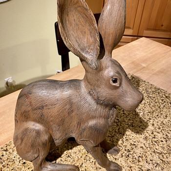 Tom Taber carved jack rabbit  - Animals