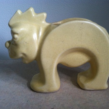 McCoy Stretch Lion - Signed Leslie Cope - Pottery