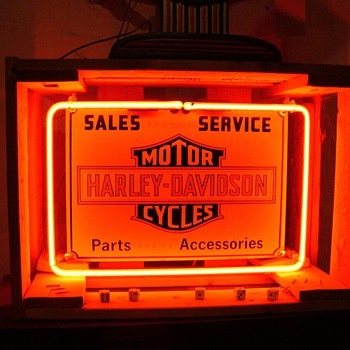 Vintage Harley Davidson Neon - Signs