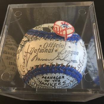 Casey Stengel Fazzino Autographed Baseball - Baseball