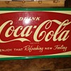 Large metal Coke sign