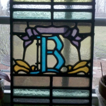 "Old stained glass ""B""  1909"