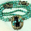 Chinese Turquoise and Silver Wire Work Necklace
