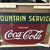 1930's Coca Cola double side fountain service sign