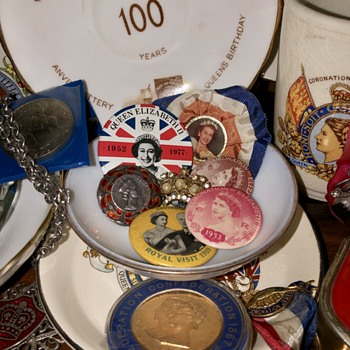 Tiny Sample of my British Royalty Collection - Medals Pins and Badges
