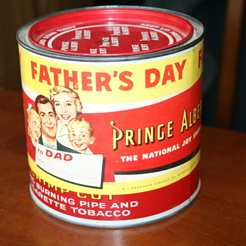 Prince Albert Father's Day can from about 1963-64 ( I think) - Tobacciana