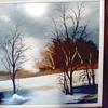 "Vintage Matson ""Winter Landscape"" / Oil on Masonite Panel 24""x 24"" / Circa 1960's-70's"