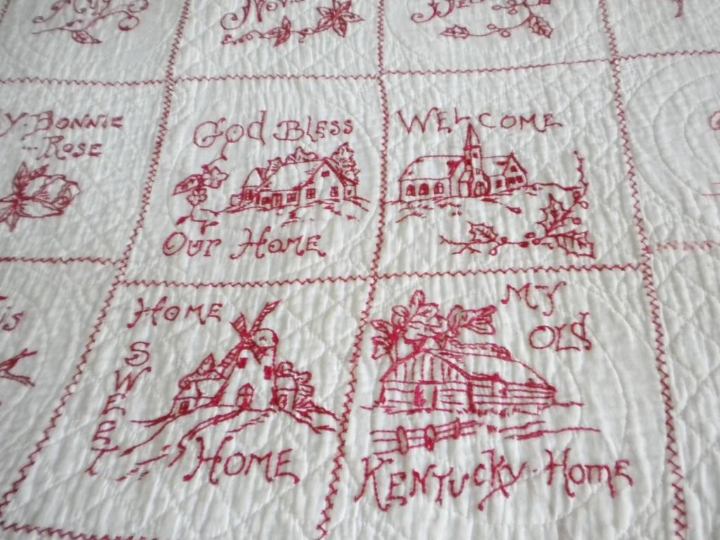 Redwork Quilt C1900 S Collectors Weekly