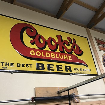 Cook's beer sign 5ft  - Signs