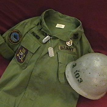 U.S. Navy Vietnam Era River Patrol Boat Jacket and Helmet - Military and Wartime