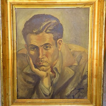 "*NEW PHOTO* - Howard Hughes?? ""HH Despondent"" on Reverse - Fine Art"