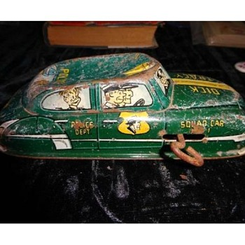 OLD, POOR SHAPE, DICK TRACY CAR!  HAD TO HAVE IT....
