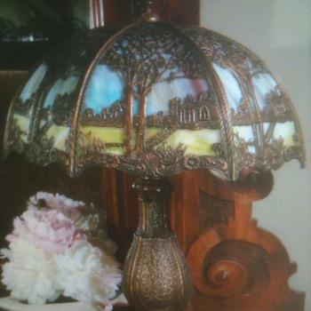 Art Nouveau Slag Lamp
